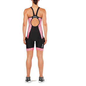 2XU Perform Y Back Trisuit Women, black/rose pink tide